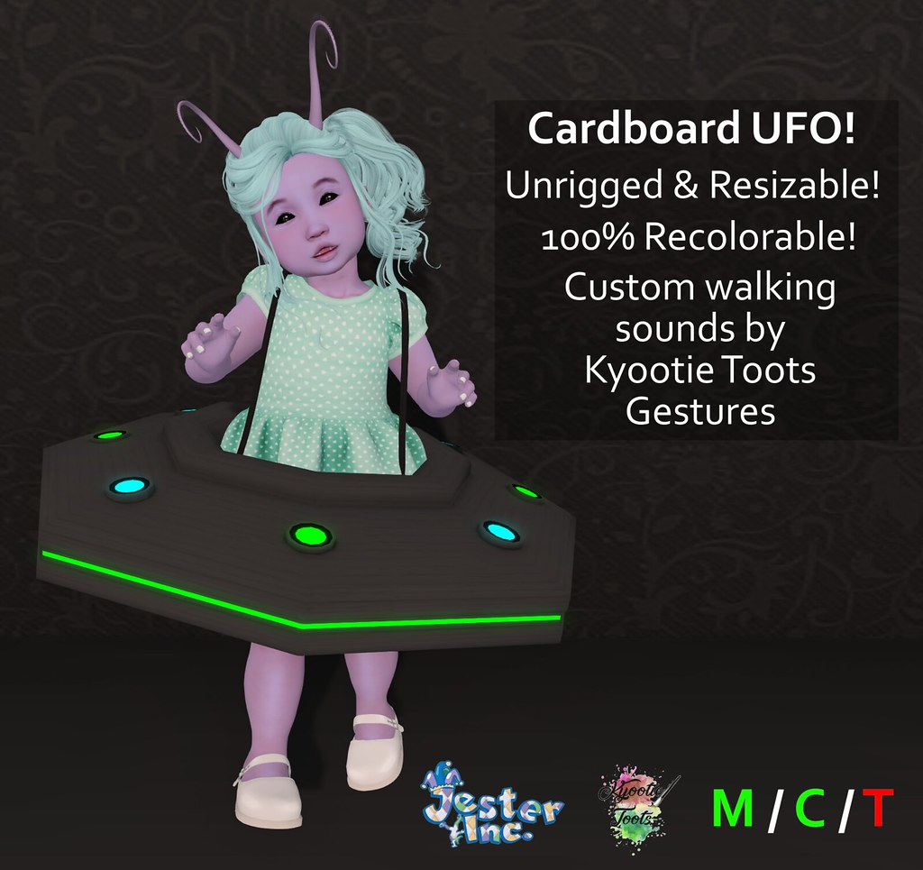 Presenting the Cardboard UFO from Jester Inc.