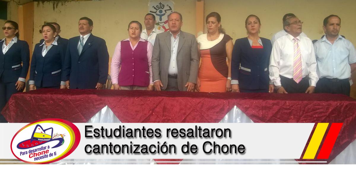 Estudiantes resaltaron cantonización de Chone