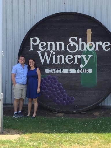 Penn Shore Winery and Vineyard barrel head