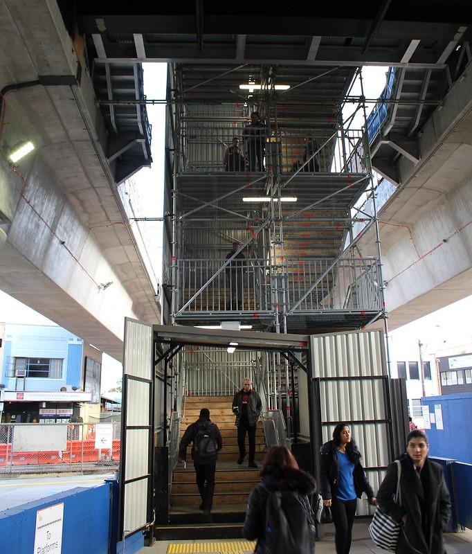 Carnegie skyrail station - temporary stairs