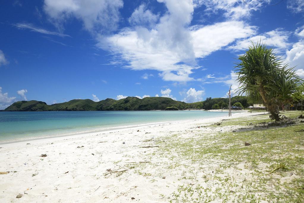 Isla con playas paradisíacas en Indonesia