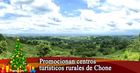 Promocionan centros turísticos rurales de Chone