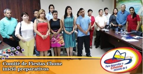 Comité de Fiestas Chone inició preparativos