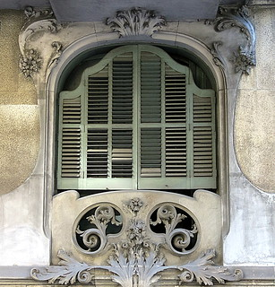 A green-shuttered window, Barcelona