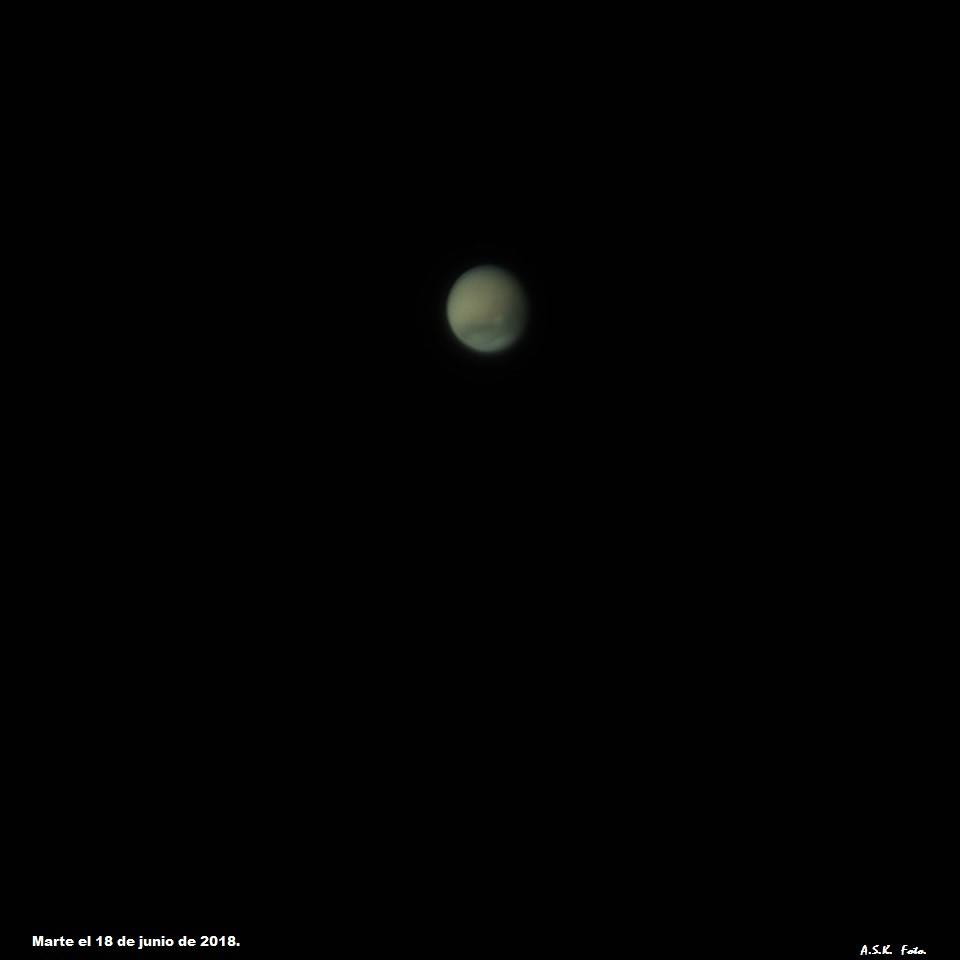 Marte con tormenta de arena.