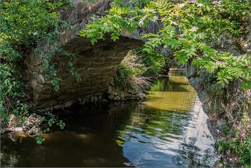 Steinerne Bogenbrücke über die Rott, Rottal / Stone arch bridge over the Rott, Rottal