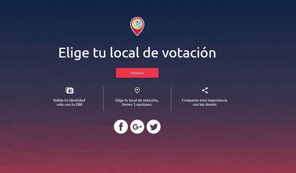 Elige tu local de votación - ONPE