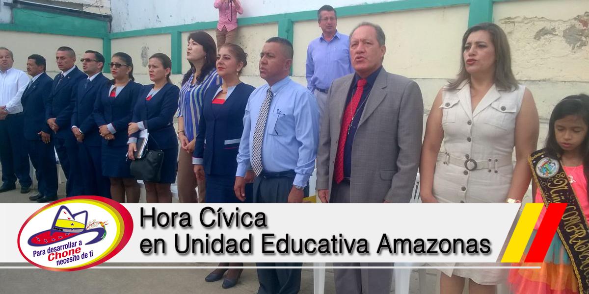 Hora Cívica en UE Amazonas