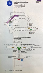 Continental Denver Stapleton and Denver International diagrams 1994