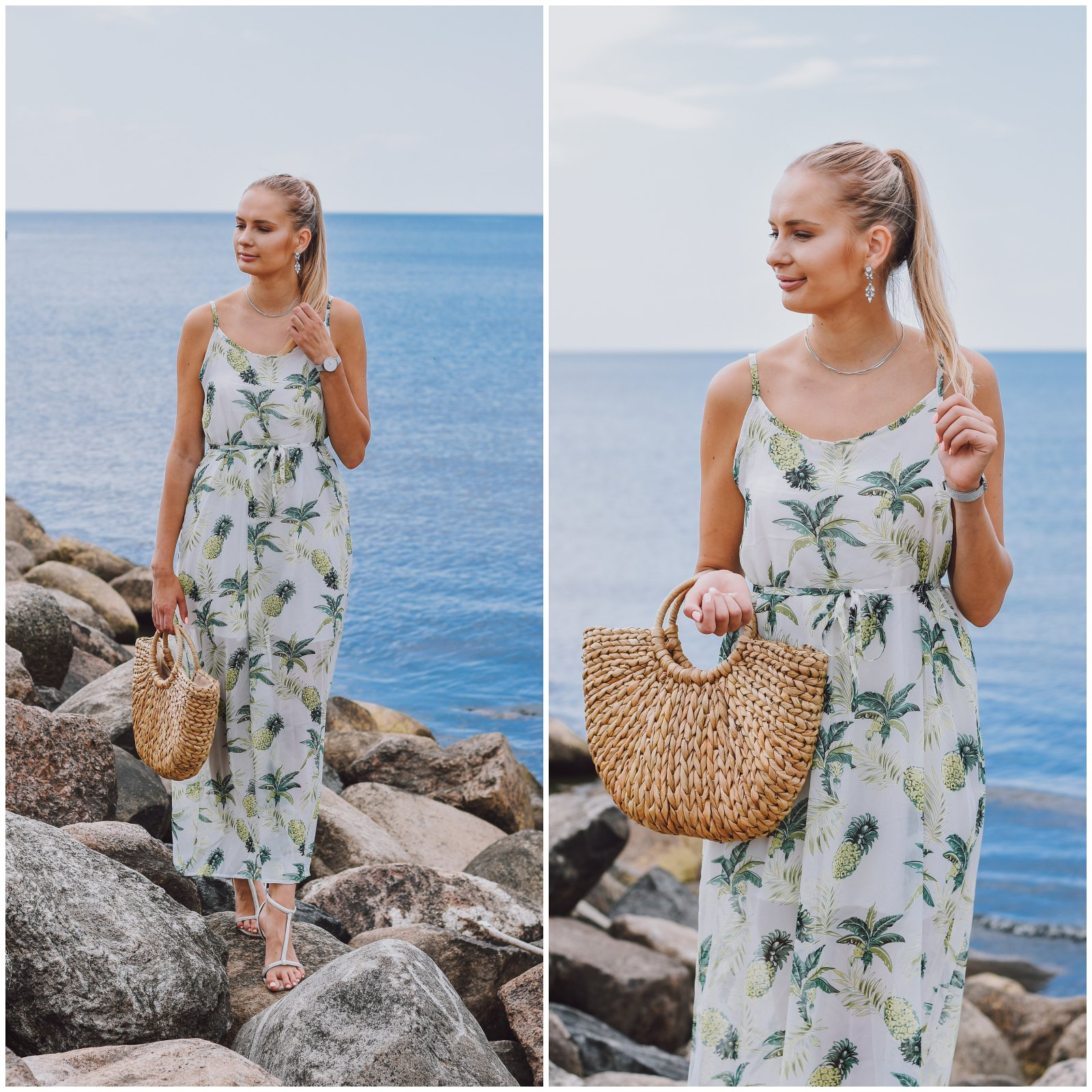 Rosegal pineapple print dress