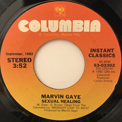 MARVIN GAYE:SEXUAL HEALING(LABEL SIDE-A)