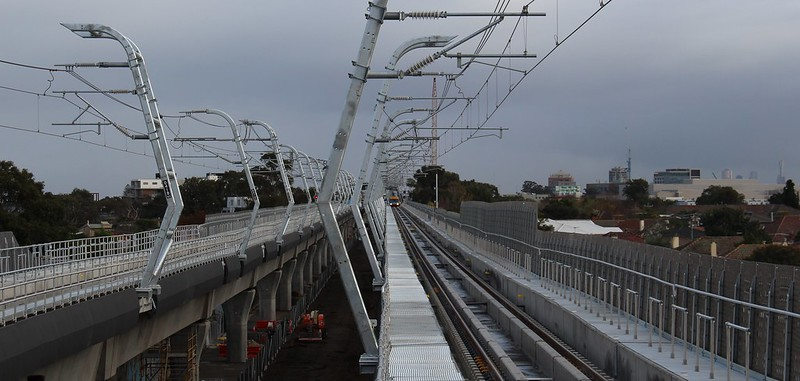 Looking towards the City from Murrumbeena skyrail station