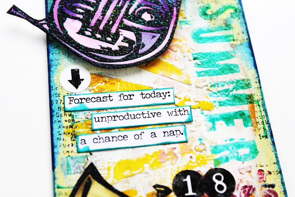 Meihsia Liu Simply Paper Crafts Mixed Media Tag Summer Fun Music Instrument Simon Says Stamp Tim Holtz 3