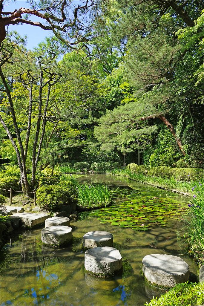 Le Jardin Du Sanctuaire Shinto Heian Jingu Kyoto Japon Flickr