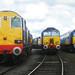 DRS 20308, 57302, 57304, Crewe Gresty Bridge 18/08/12
