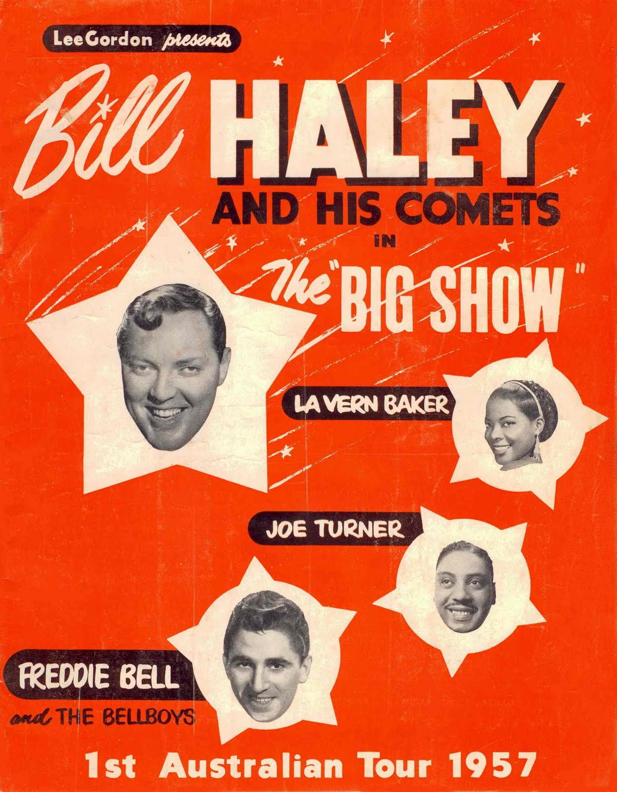 Promotional poster for Bill Haley;'s first Australian tour in 1957.