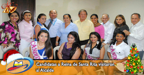 Candidatas a Reina de Santa Rita visitaron al Alcalde