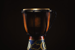Old Wooden Djembe