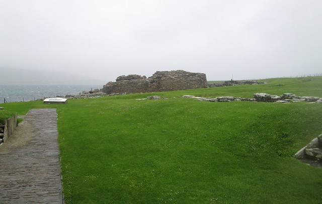 Broch of Gurness from Site Entrance