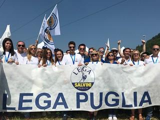La delegazione della Lega Puglia a Pontida