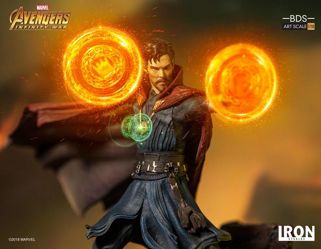 至尊魔法師魄力現身!! Iron Studios Battle Diorama 系列《復仇者聯盟3:無限之戰》奇異博士 Doctor Strange 1/10 比例決鬥場景雕像作品