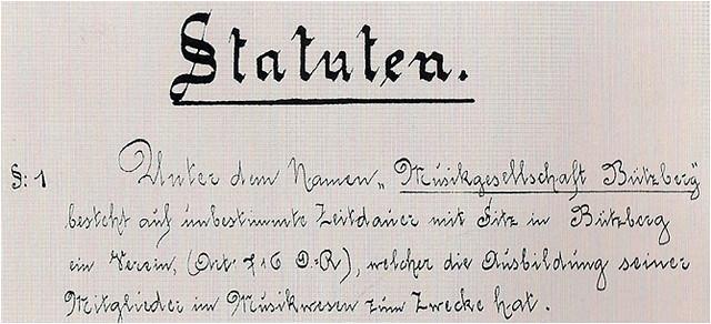 1893 Statuten
