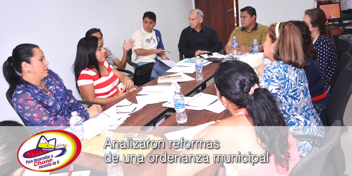 Analizaron reformas de una ordenanza municipal