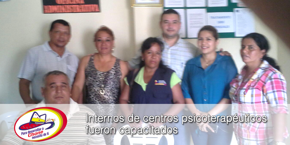 Internos de centros psicoterapéuticos fueron capacitados