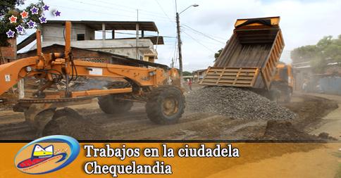 Trabajos en la ciudadela Chequelandia