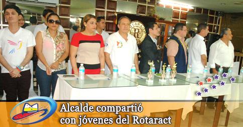 Alcalde compartió con jóvenes del Rotaract