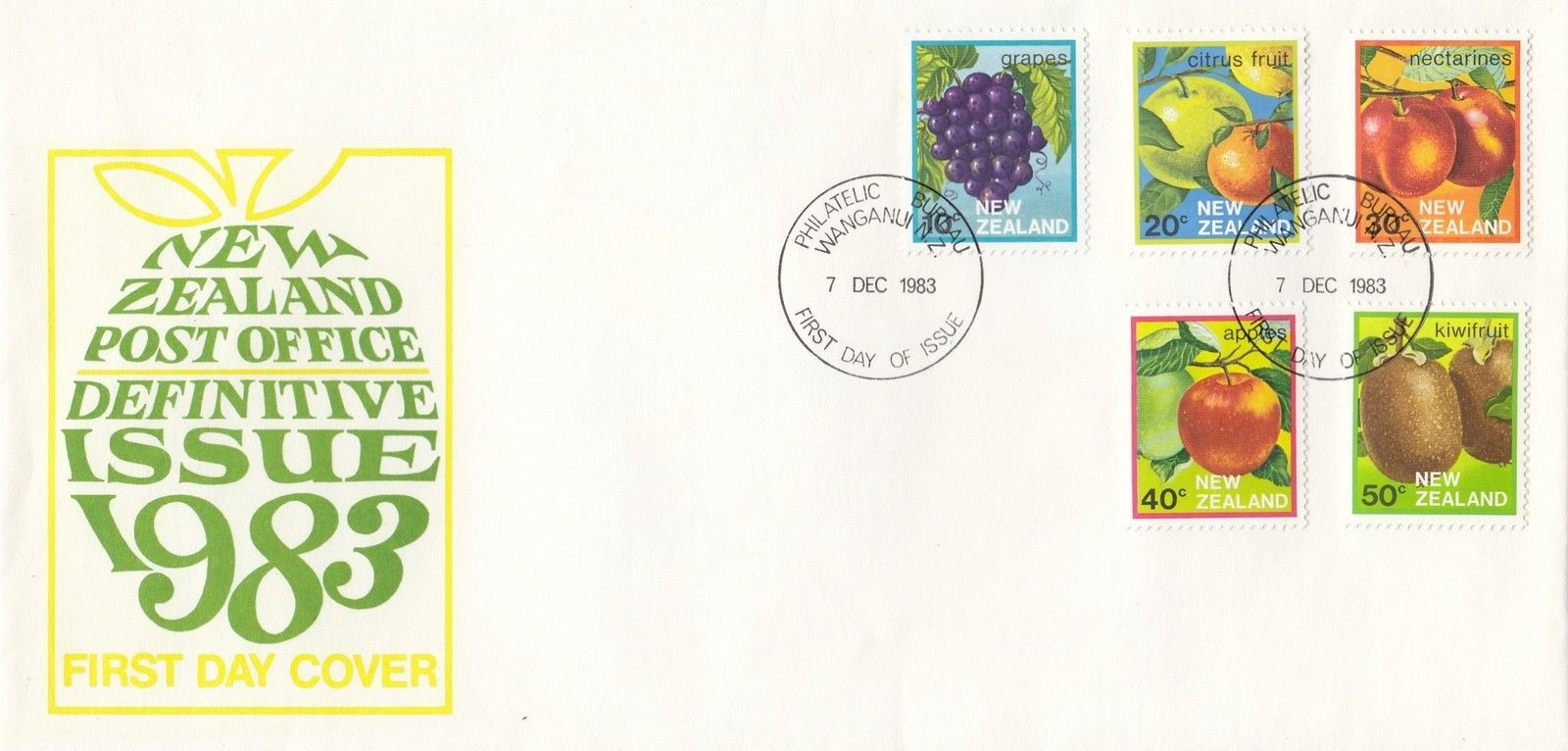 New Zealand - Scott #761-765 (1983) first day cover