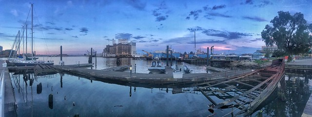 Late evening on Losust Point in Baltimore