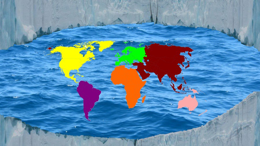 Flat Earth Map Ice Wall.Flat Earth Ice Wall Anthony Curtis Flickr