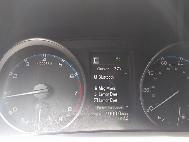 1000 miles on the new car!