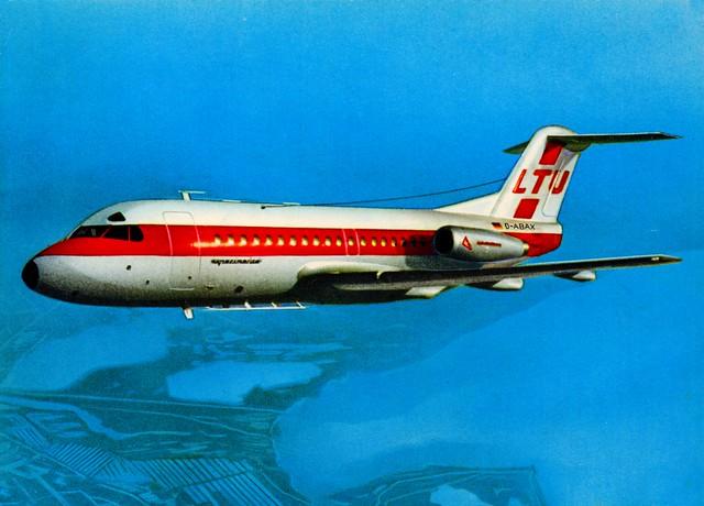 Germany - FOKKER F28 - LTU [D-ABAX] - 1969 - front