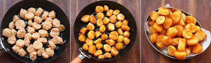 How to make baby potato manchurian recipe - Step5