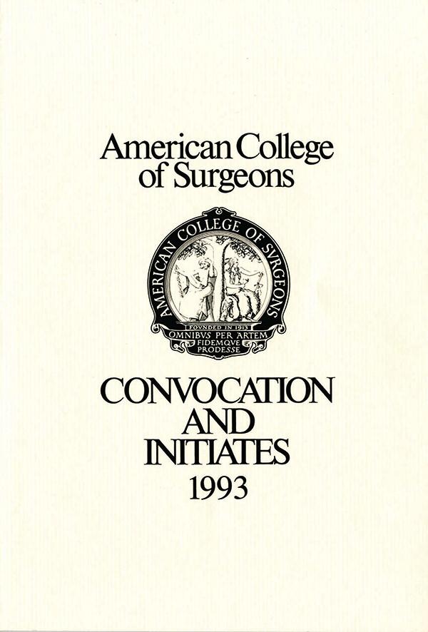 1993 Convocation Book