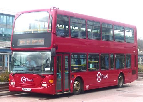 YN06 JYL 'TM Travel' No. 1176. Scania N94UD / East Lancs Omnidekka on Dennis Basford's railsroadsrunways.blogspot.co.uk'