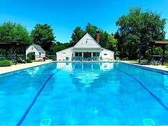 My favorite place to be in the summer! Especially when we have the pool to ourselves! #connecticut