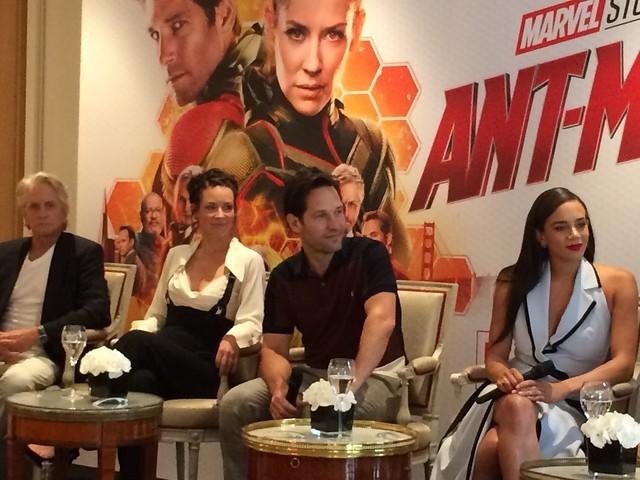 Ant-Man et la guêpe : La promotion française du film avec Peyton Reed, Stephen Broussard, Evangeline Lilly, Paul Rudd, Hannah John-Kamen et Michael Douglas