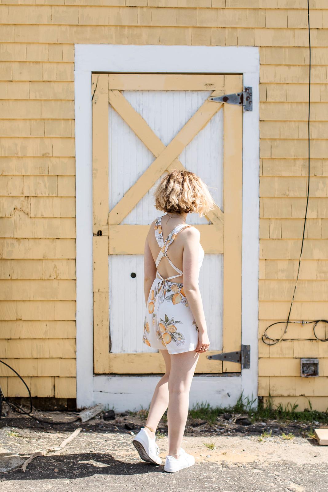 Lemon Print Romper Summer Style on http://juliettelaura.blogspot.com/