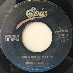 MICHAEL JACKSON:SHE'S OUT OF MY LIFE(LABEL SIDE-A)