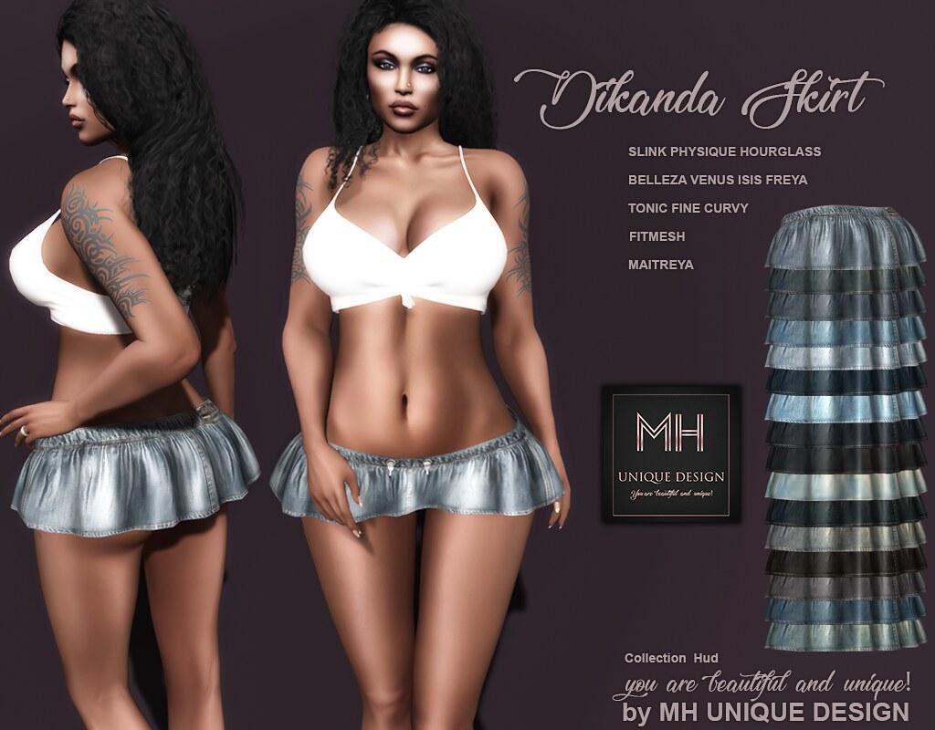 MH-Dikanda Skirt Denim Collection - TeleportHub.com Live!