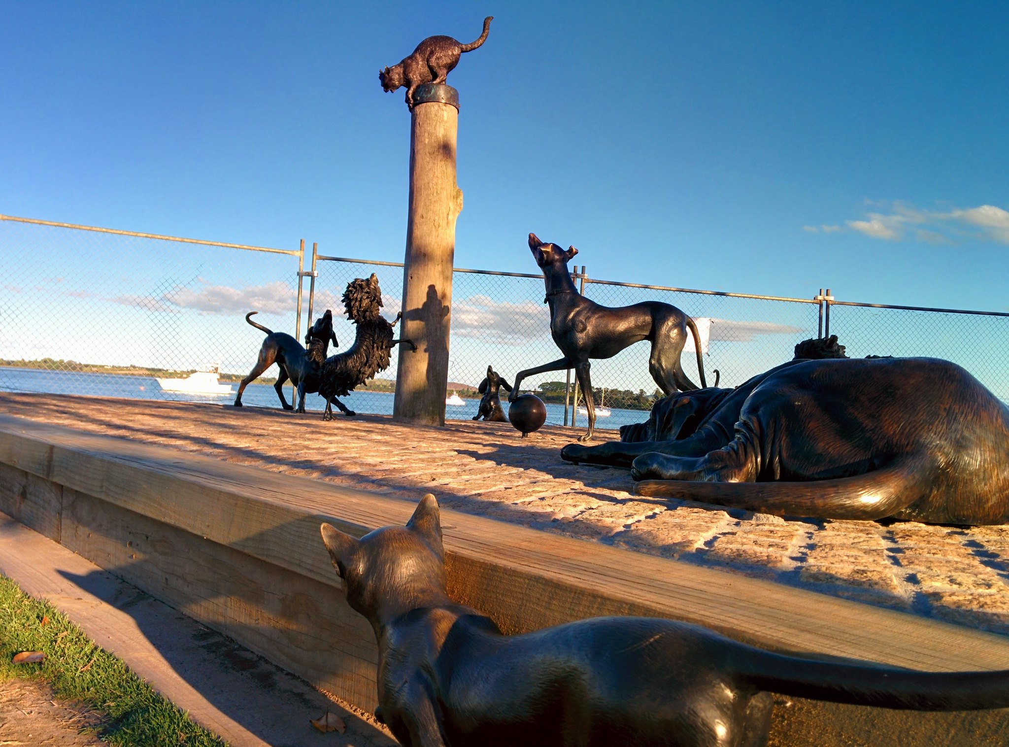 A sculpture on the Tauranga waterfront