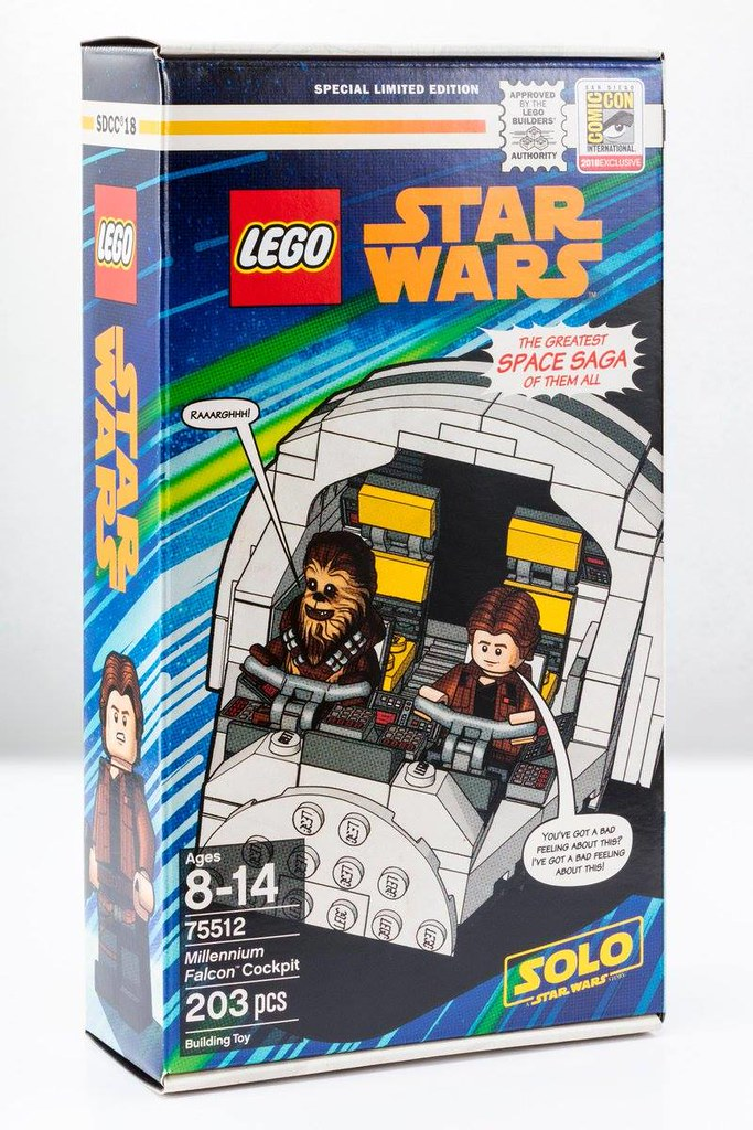 She's a Beauty! LEGO 75512 Millennium Falcon Cockpit from Solo: A Star Wars Story (SDCC 2018 Exclusive)