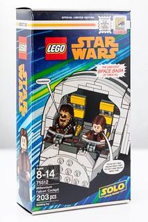 讓人最不想拆的一組樂高?! LEGO 75512《星際大戰外傳:韓索羅》千年鷹號駕駛艙 Millennium Falcon Cockpit【2018 SDCC 限定】