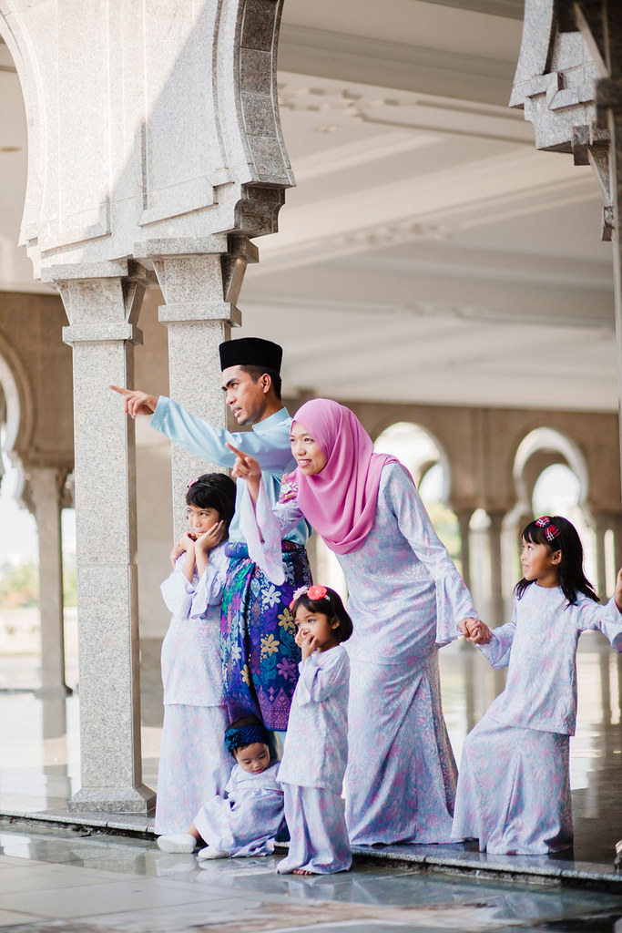 Family portrait Aidilfitri Masjid Wilayah