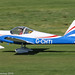 G-CHTI - 2013 build Vans RV-12, arriving on Runway 26L at Barton, part of the LAA 70th Anniversary Tour