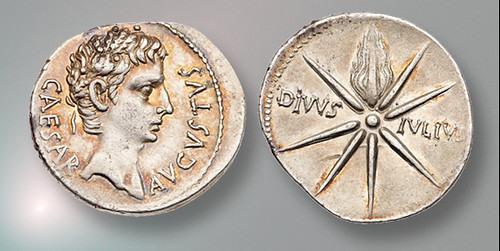 Julian Star on Caesar Augustus Denarius