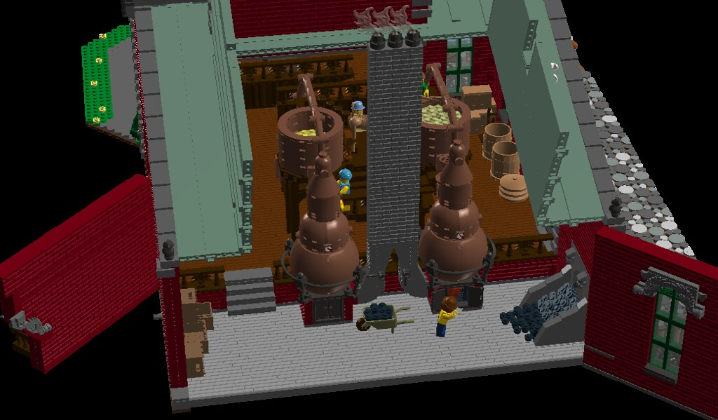 Distillery Main roof off